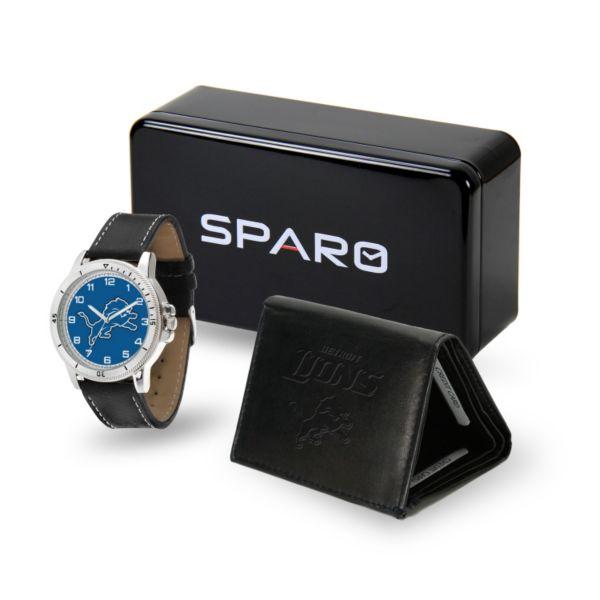 Men's Sparo Detroit Lions Watch and Wallet Set