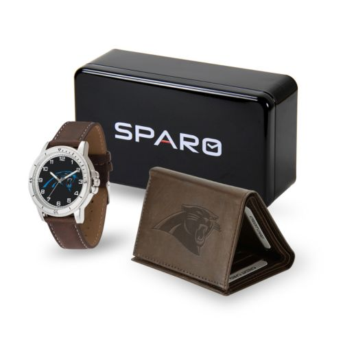 Men's Sparo Carolina Panthers Watch and Wallet Set