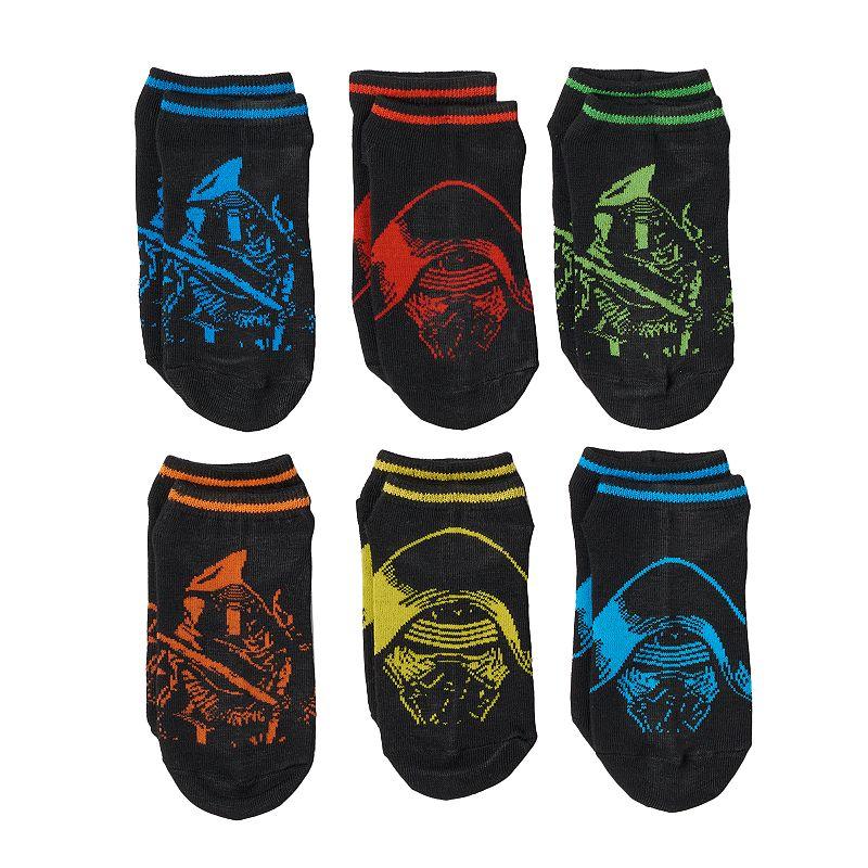 Boys Star Wars: Episode VII The Force Awakens 6-Pack Character Socks