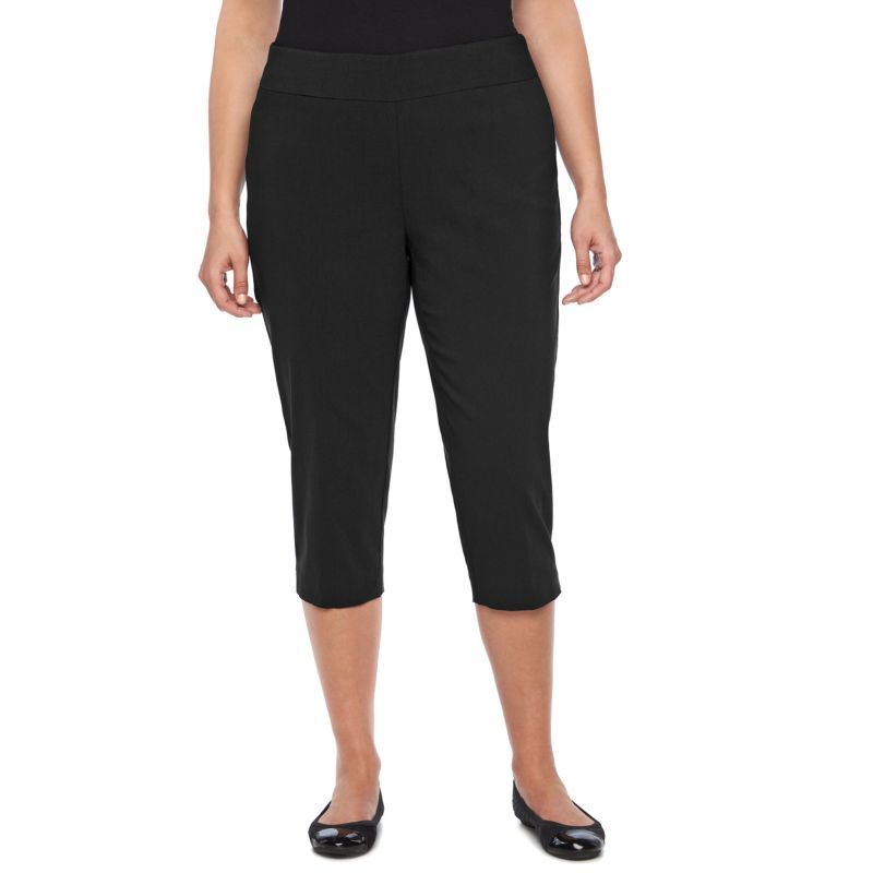 Plus Size Dana Buchman Millennium Pull-On Capris, Women's, Size: 1X, Black