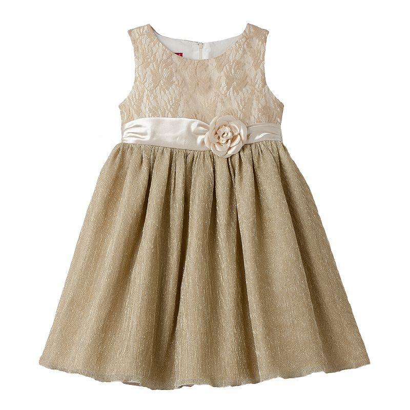 Princess Faith Girls 4-6x Floral Lace Dress
