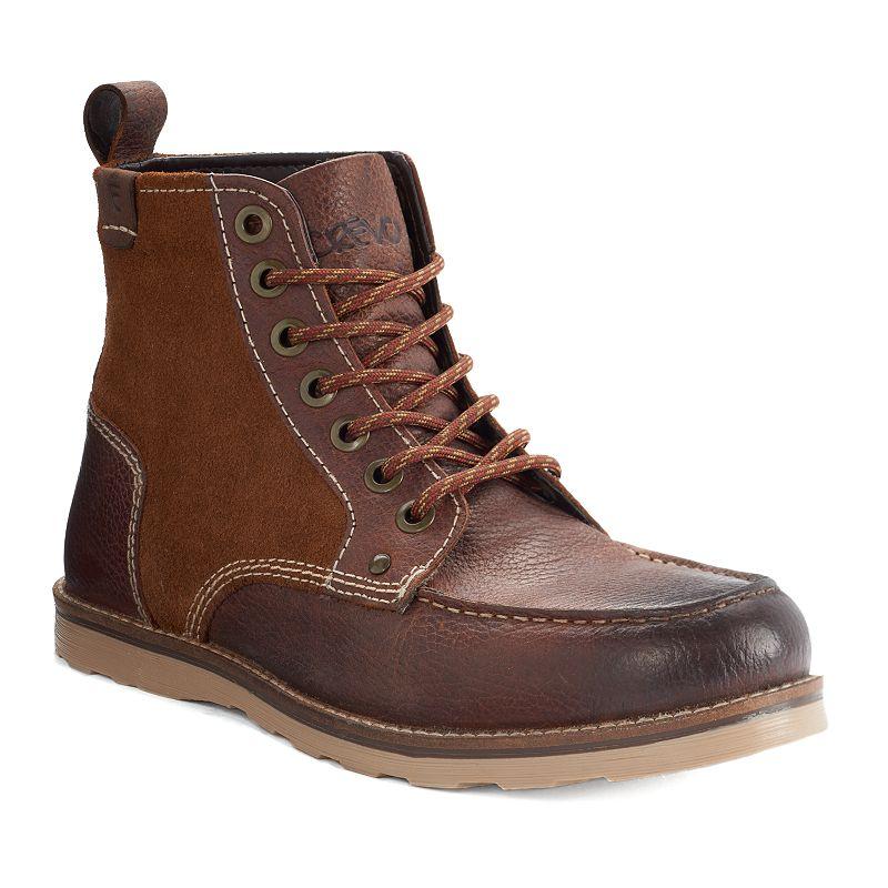 Crevo Elk Men's Rugged Moc Toe Ankle Boots