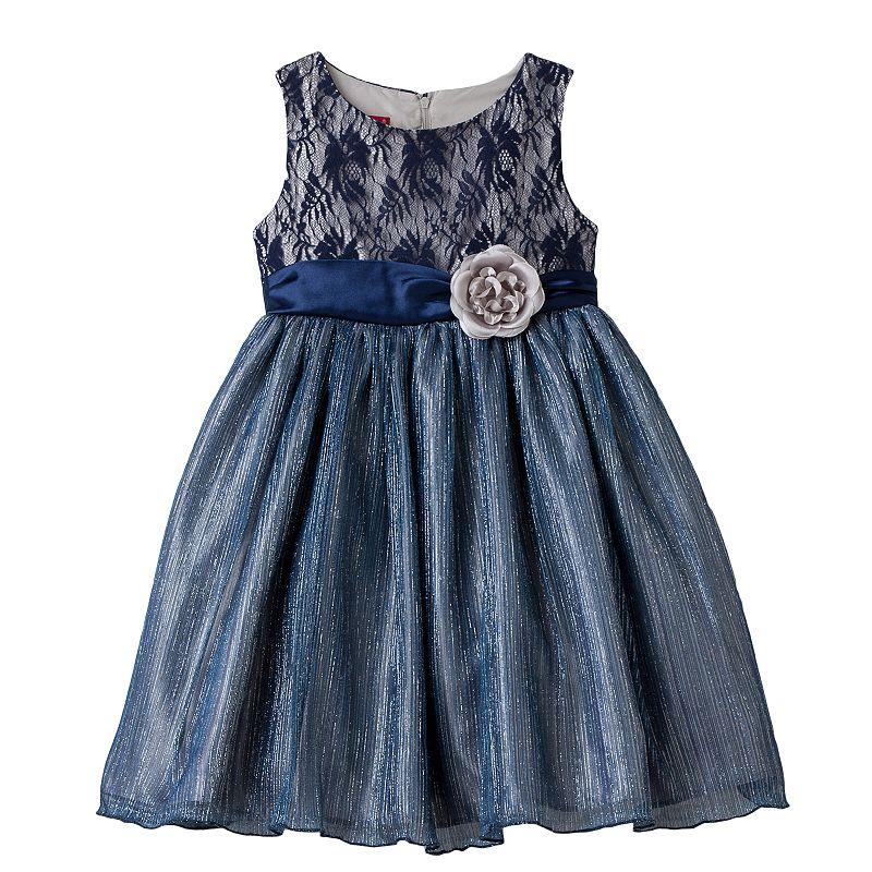 Princess Faith Baby Girl Floral Lace Dress