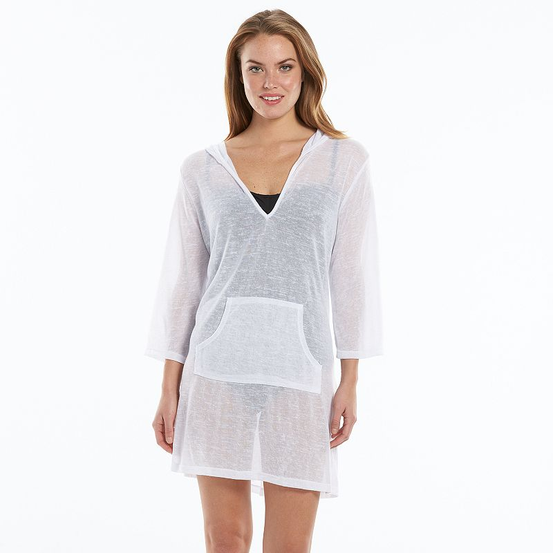 Women's Apt. 9® Slub Hooded Cover-Up