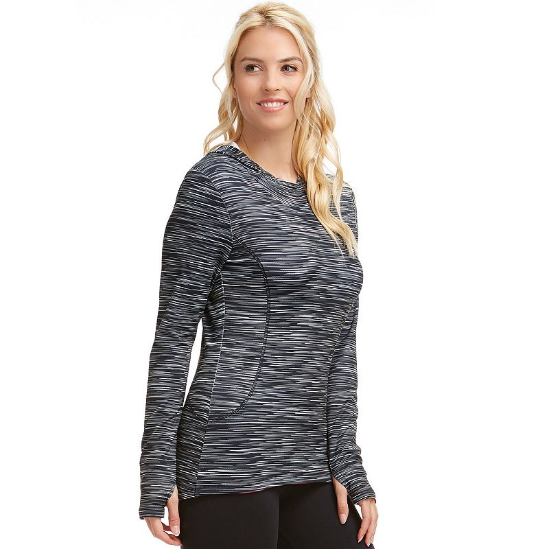 Women's Bally Total Fitness Chill Tek Fleece Workout Hoodie