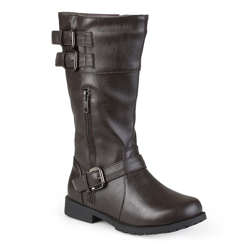 Journee Collection Duo Girls' Moto Buckle Boots