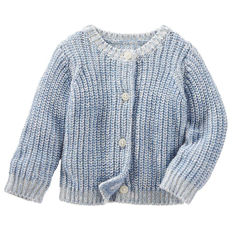 Baby Girl OshKosh B'gosh® Marled Knit Cardigan