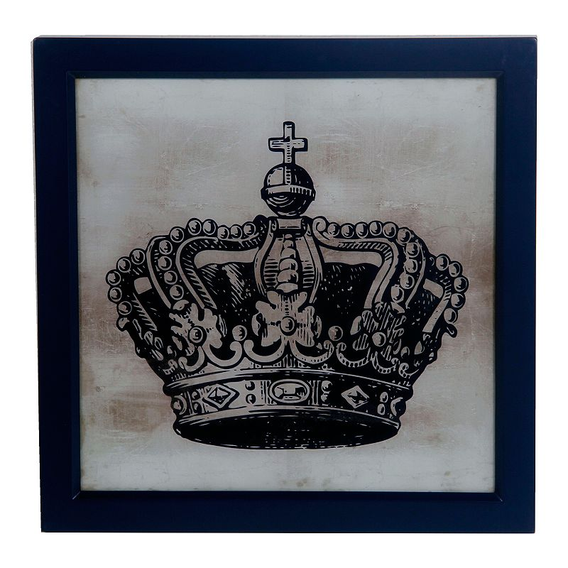 Black Crown Wall Decor : Black framed crown wall d?cor dealtrend