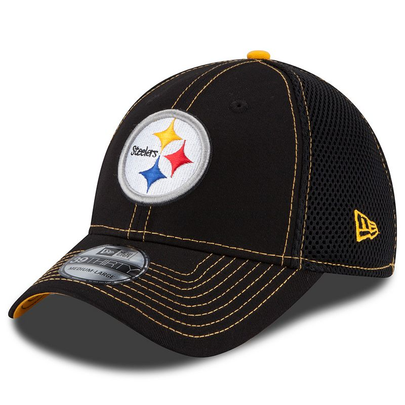 New Era Pittsburgh Steelers Crux Line Neo 39THIRTY Stretch-Fit Cap - Adult