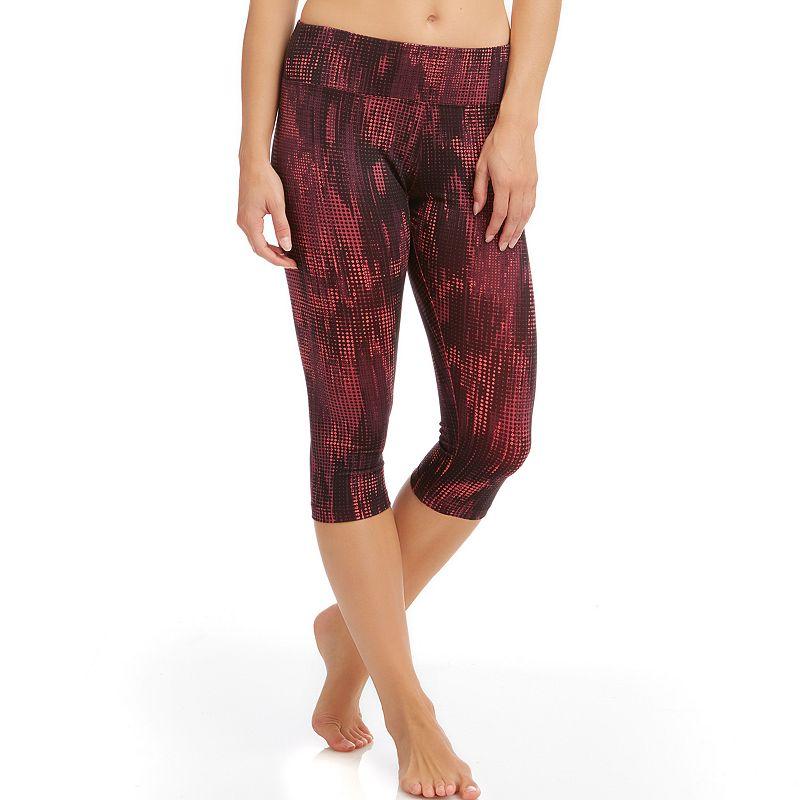 Women's Bally Total Fitness Printed Capri Workout Leggings