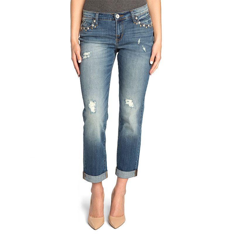 Women's Rock & Republic® Distressed Boyfriend Jeans