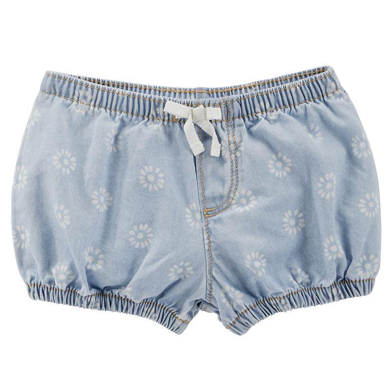 Baby Girl OshKosh B'gosh® Flower Denim Bubble Shorts