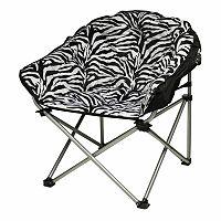Urban Shop Faux-Fur Zebra Club Chair