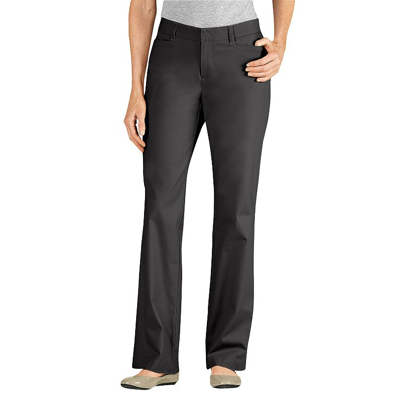 Dickies Curvy Fit Straight-Leg Twill Pants - Women's