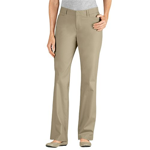 Awesome Dickies Women39s Slim Fit Straight Leg Stretch Twill Pant DKFP600