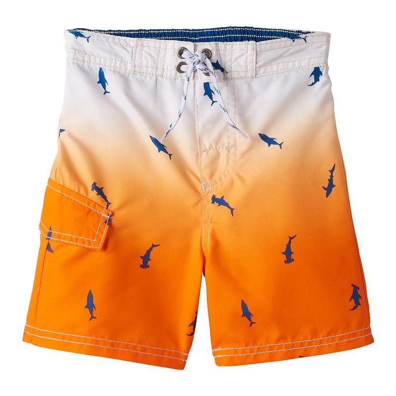 Boys 4-7 OshKosh B'gosh® Shark Ombre Swim Trunks