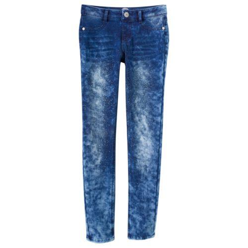 Girls 7-16 & Plus Size SO® Glitter Denim Jeggings