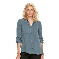 Women's Rock & Republic® Roll-Cuff Shirt