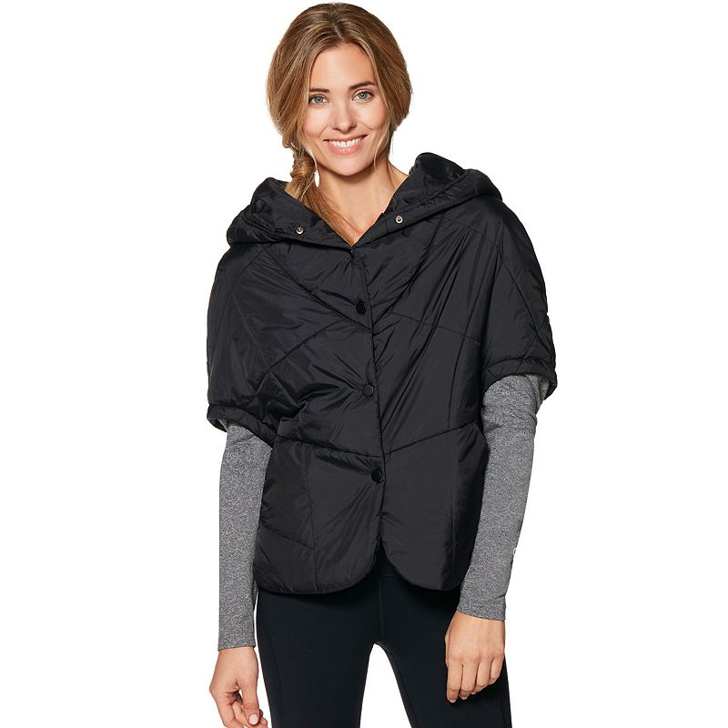 Women's Shape Active Puffa Stole Hooded Puffer Jacket