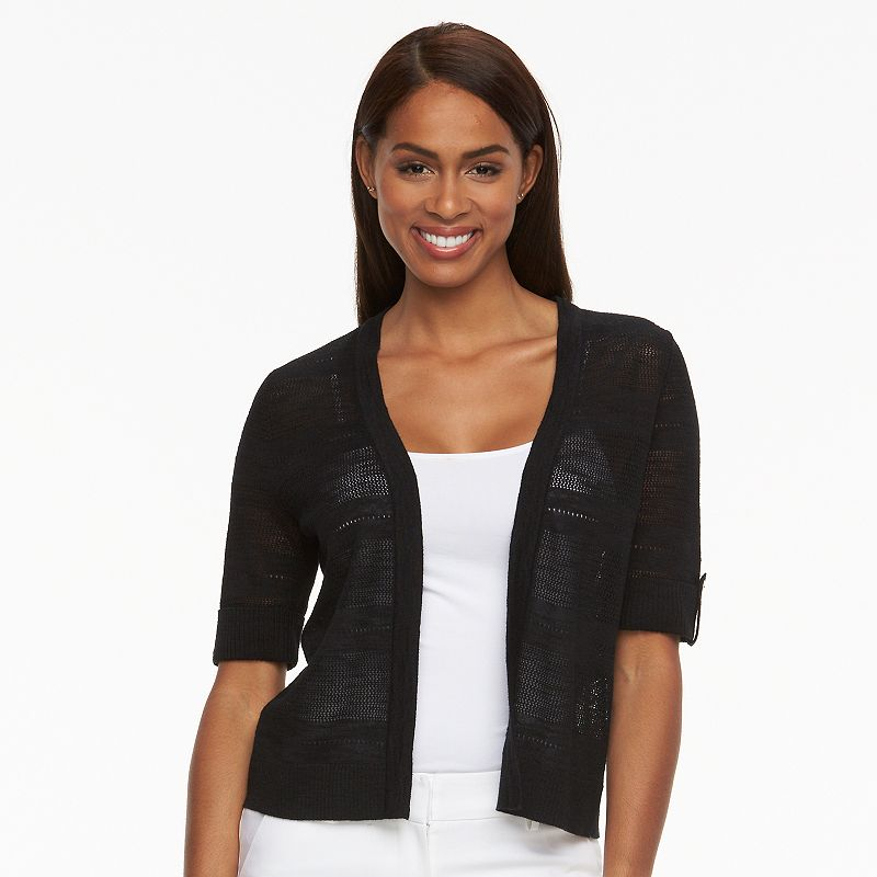 Women's Croft & Barrow® Knit Crop Cardigan