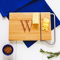 Cathy's Concepts Monogram Bamboo Cheese Slicer