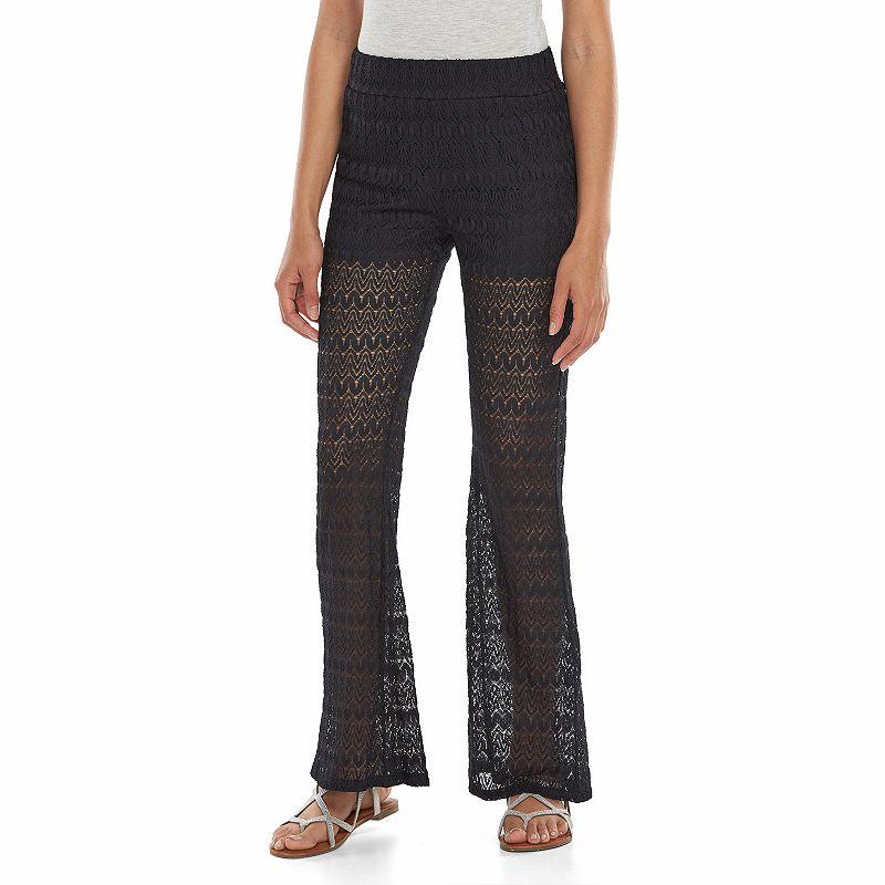 Juniors' Joe B Crochet Flare Pants