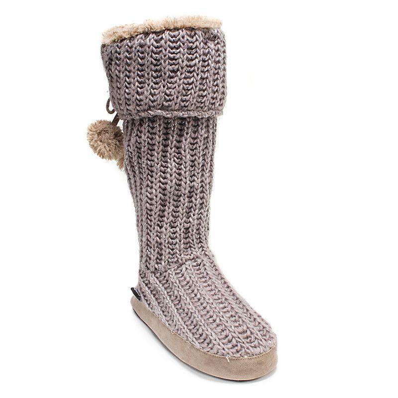 MUK LUKS Women's Winona Cuffed Knit Boot Slippers