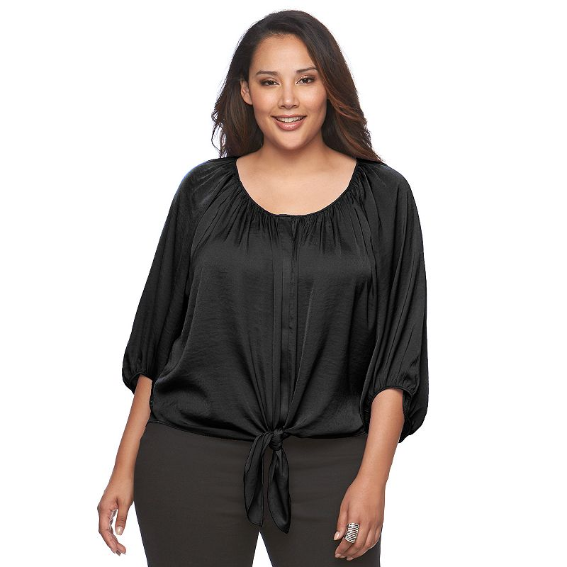 Plus Size Jennifer Lopez Scoopneck Top