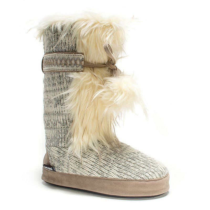 MUK LUKS Women's Jewel Knit Boot Slippers