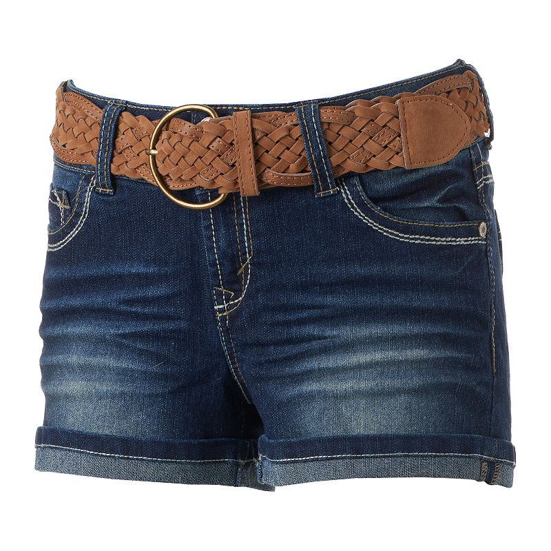 Juniors' Wallflower Luscious Curvy Shortie Shorts
