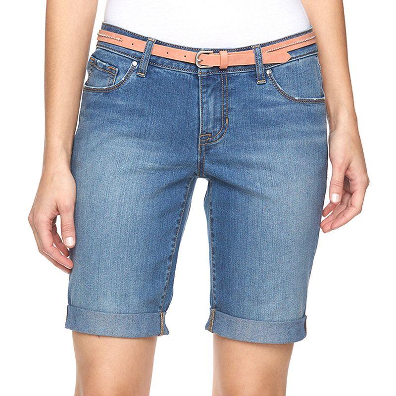 Women's Apt. 9® Modern Fit Jean Bermuda Shorts