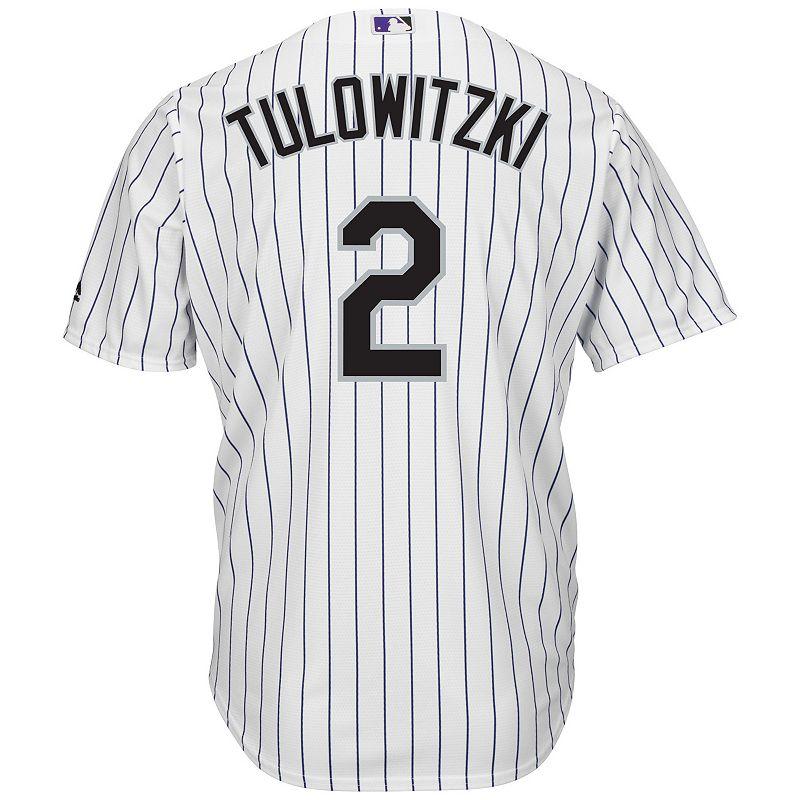 Men's Majestic Colorado Rockies Troy Tulowitzki Cool Base Replica MLB Jersey