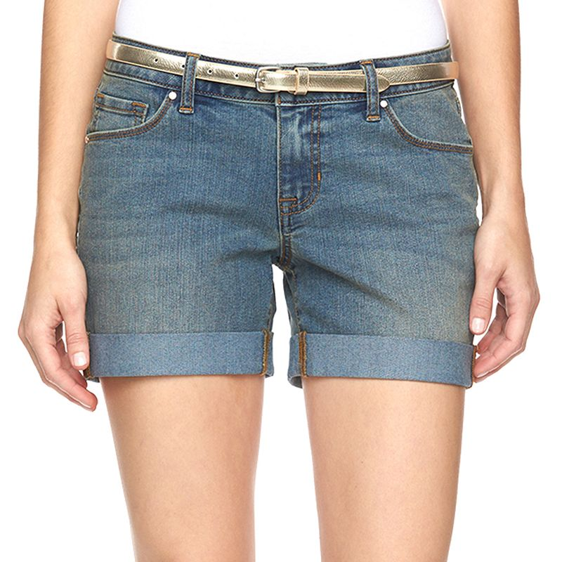 Women's Apt. 9® Modern Fit Cuffed Jean Shorts