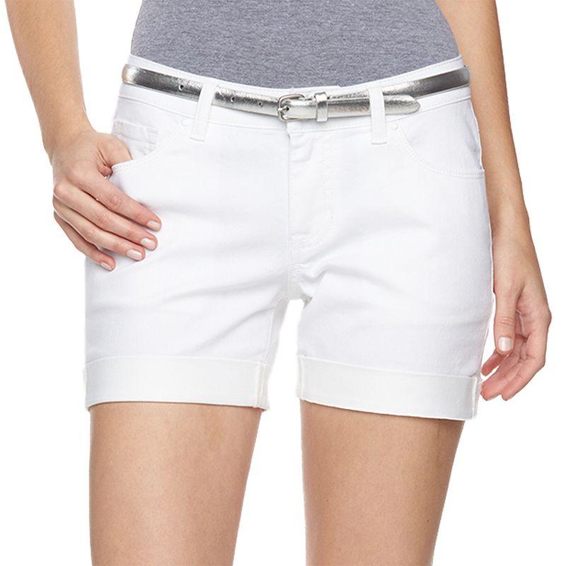 Women's Apt. 9® Modern Fit Cuffed Jean Shorts