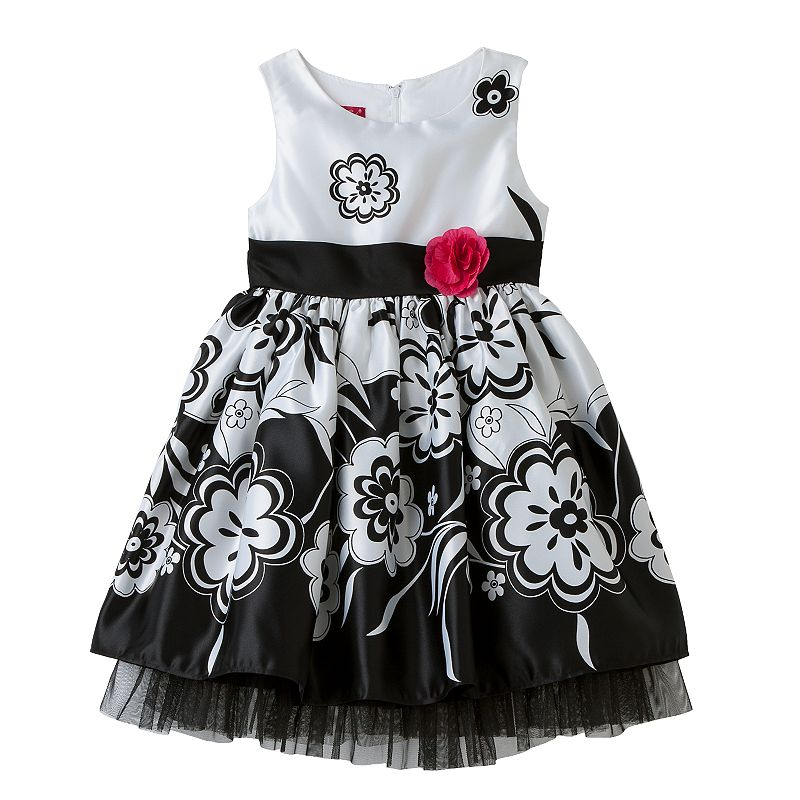 Princess Faith Girls 4-6x Floral Dress