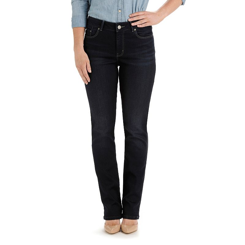 Petite Lee Miranda Curvy Fit Straight-Leg Jeans