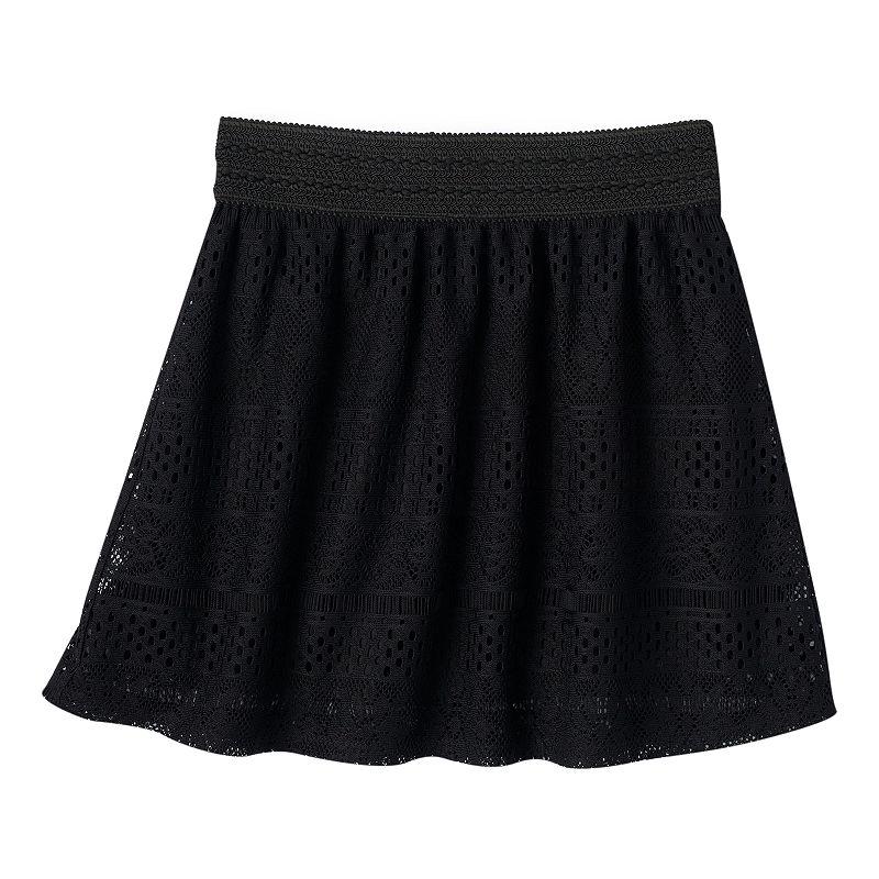 Joey B Girls 7-16 Crochet Skater Skirt