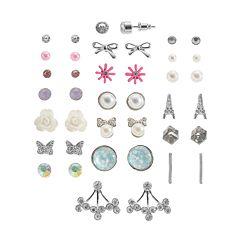 Mudd Fashion Stud & Drop Earring Set
