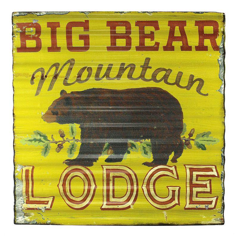 Fetco Kohler Big Bear Mountain Lodge Wall Decor