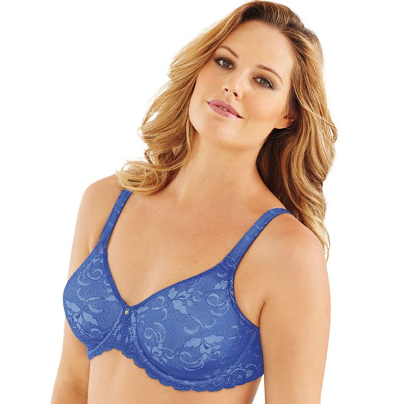 Lilyette Bra: Beautiful Support Lace Full-Figure Minimizer Bra 977 - Women's