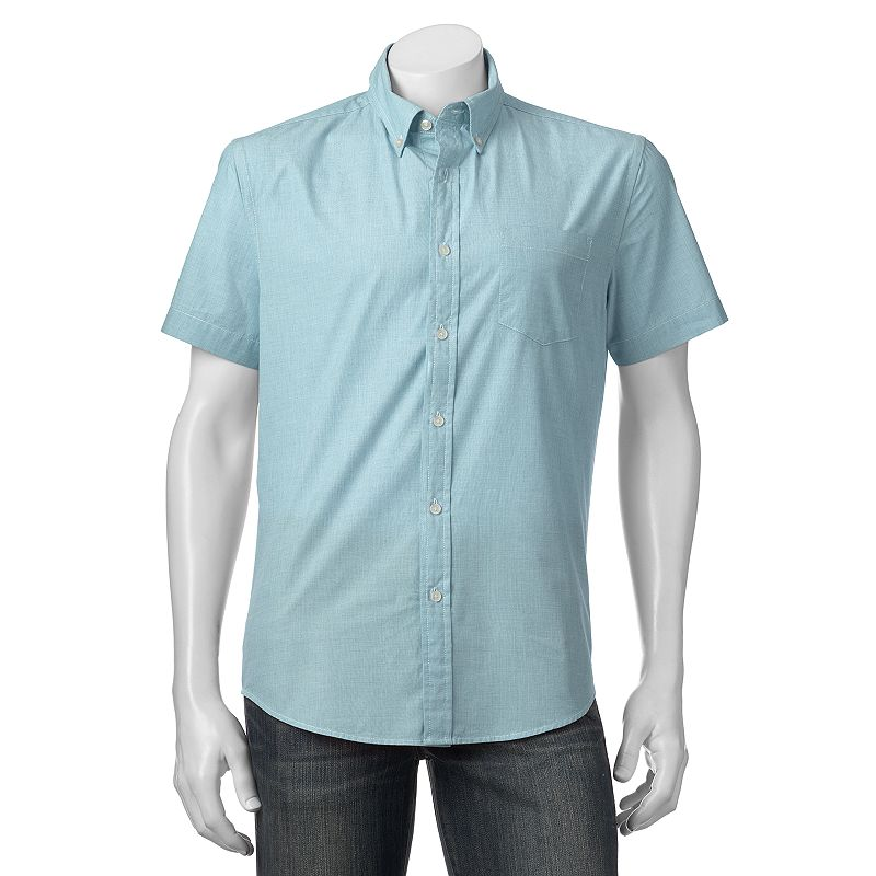 Big & Tall Men's SONOMA Goods for Life™ Solid End-On-End Button-Down Shirt
