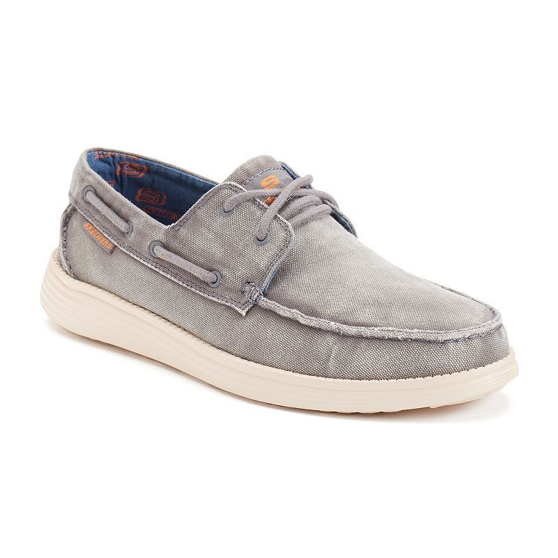Skechers Relaxed Fit Status Melec Men's Boat Shoes