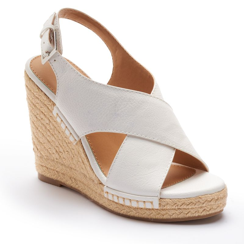 Apt. 9® Women's Cross-Band Wedge Sandals
