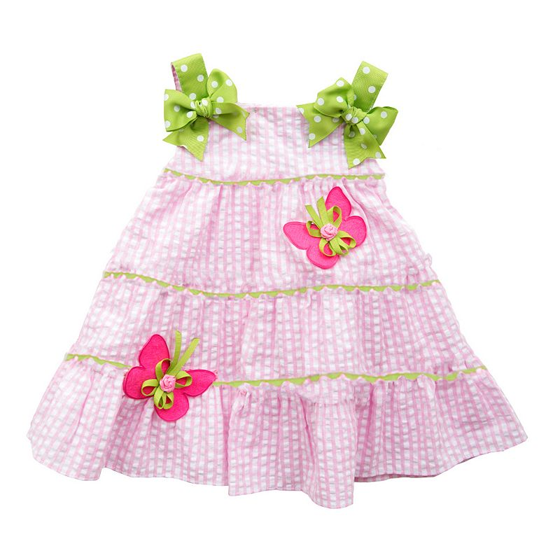Toddler Girl Rare Editions Seersucker Tiered Butterfly Dress