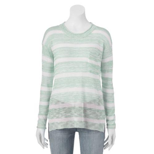 Juniors' Pink Republic Pocket Sweater
