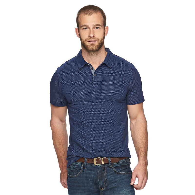 Men's Marc Anthony Extra-Slim Fit Textured Jacquard Polo