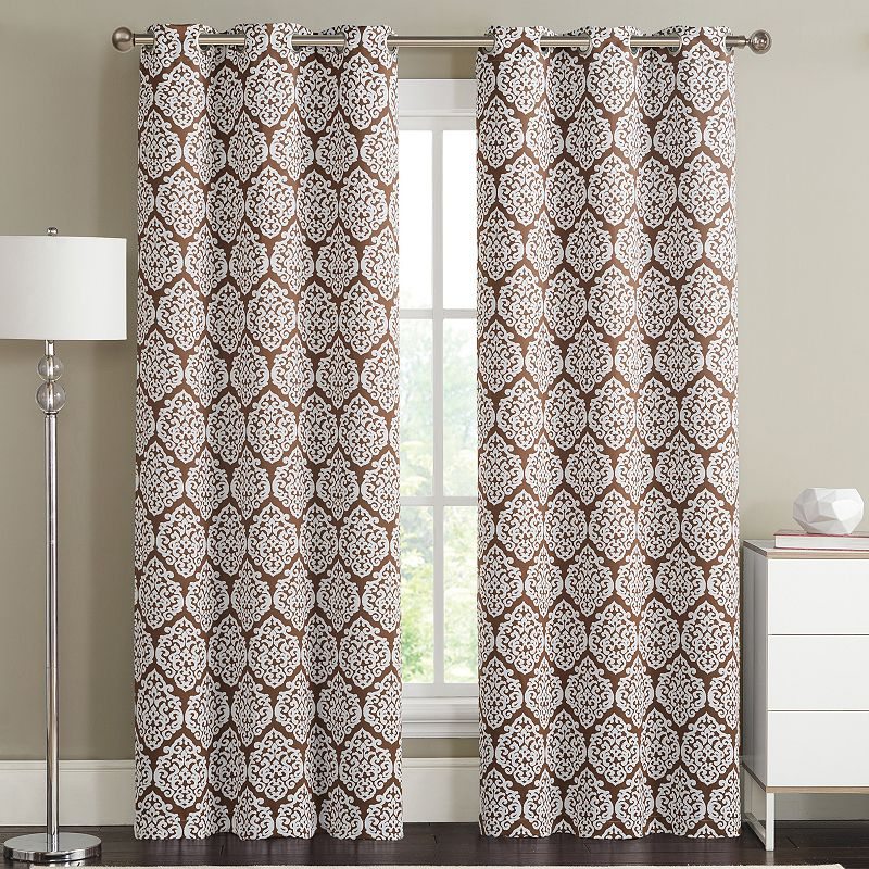 vcny 2 pack brody medallion blackout curtains