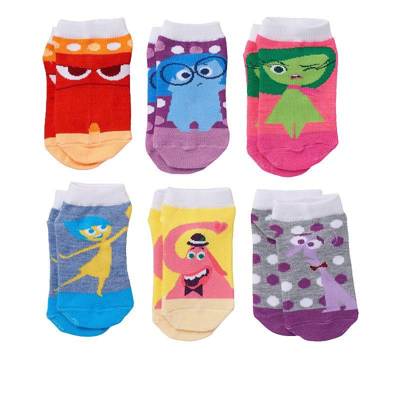 Disney / Pixar Girls 6-pk. Inside Out No-Show Socks