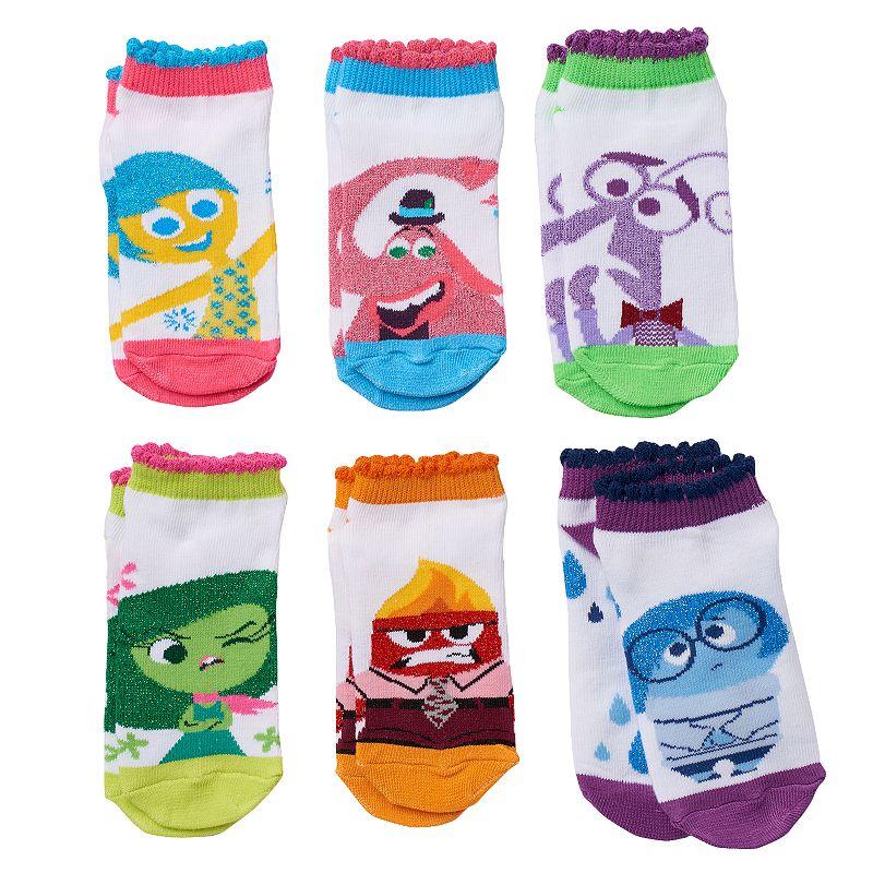 Disney / Pixar Girls 6-pk. Inside Out Lurex No-Show Socks