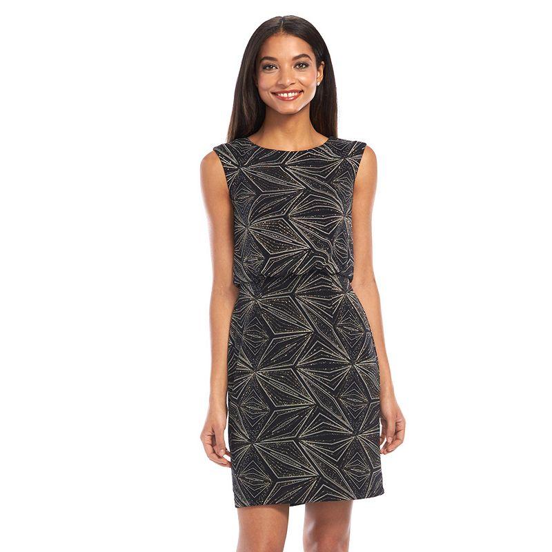 Scarlett Glitter Blouson Dress